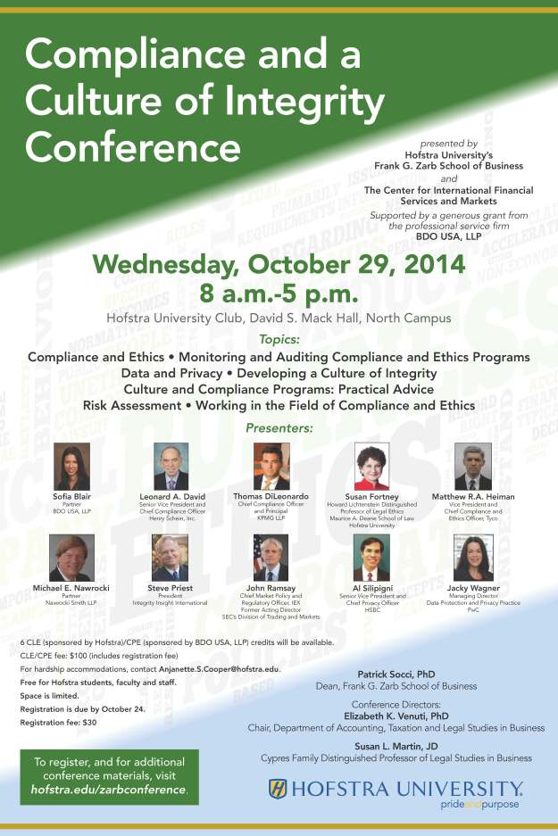2014 Compliance Conference Poster