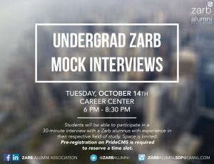 Undergrad Zarb Mock Interviews