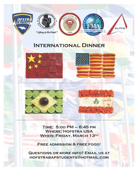 Final International Dinner Flyer
