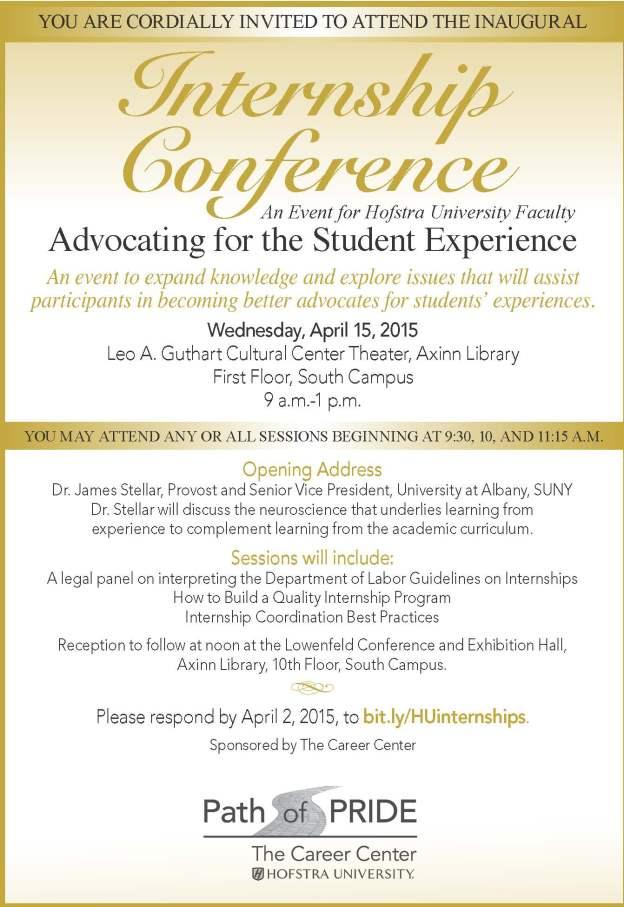 Internship Conference Invite