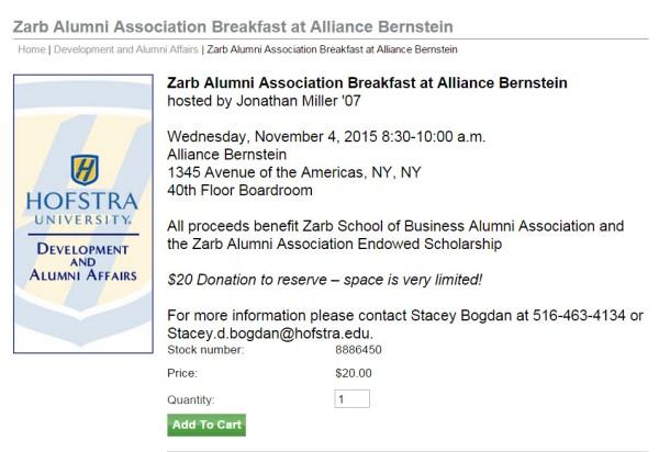 Zarb Alumni Breakfast