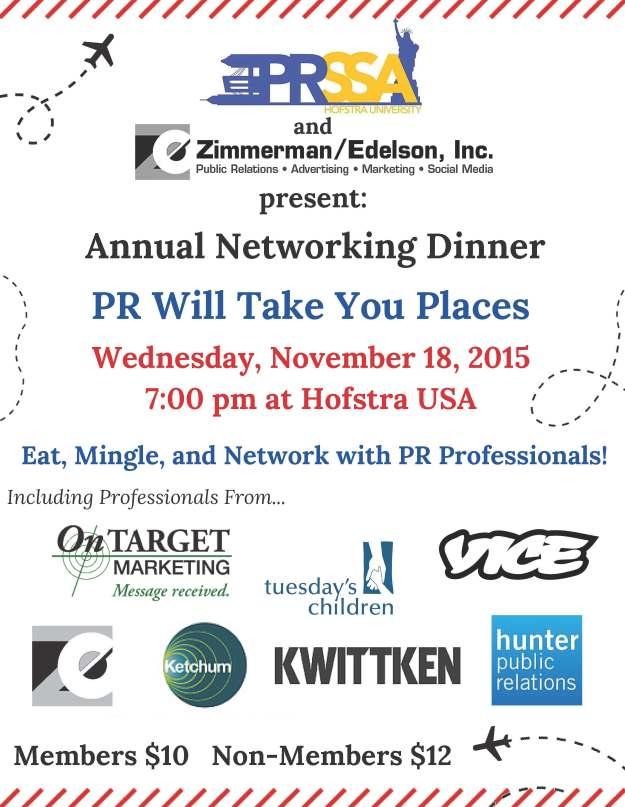 PRSSA Networking Dinner 2015 Flyer