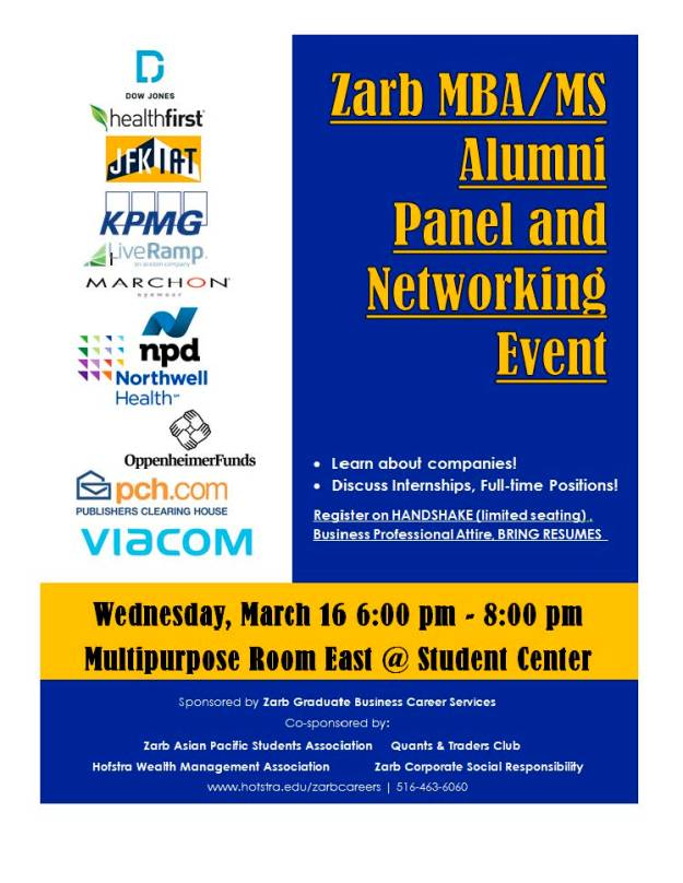 Alumni Panel and Networking Event